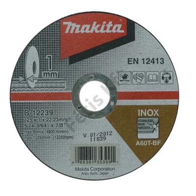 MAKITA B-12239 vágó tárcsa 125mm Inox (minimum rendelés 10 db)