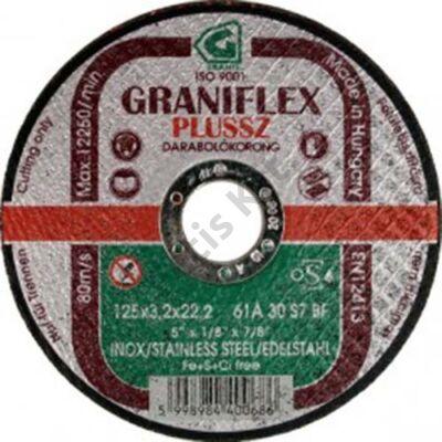 GRANIFLEX Plussz INOX 11A darabolókorong rozsdamenteshez acélokhoz 125 x 1 x 22,2