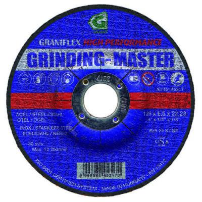 Grinding Master tisztítókorong 125x6,5x22,23 62A24S7BF 80 szerkezeti és ötvözött acélhoz
