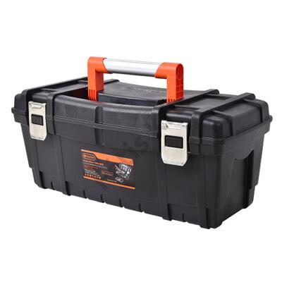 Nagy teherbírású műanyag szerszámos láda  61X27.7X26.2 CM (Tactix)