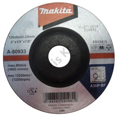 Makita Csiszolótárcsa ACÉL 125x6mm