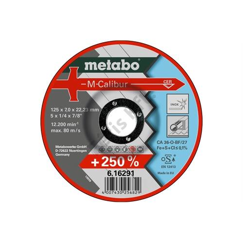 Metabo csiszolókorong M-Calibur 115 x 7.0 x 22.23 Inox, SF 27