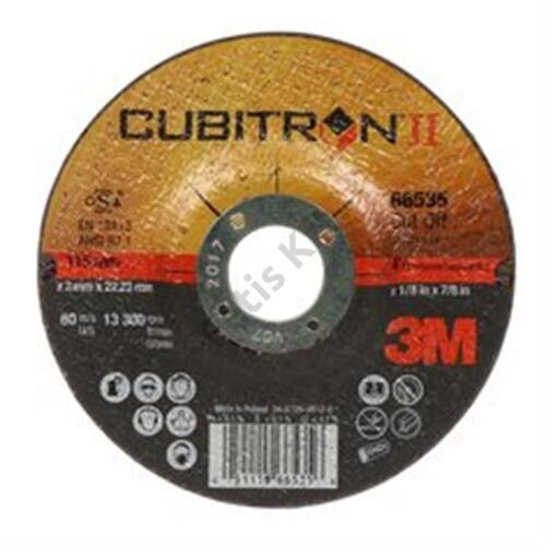 3M Cubitron II vágókorong T41 egyenes, 75 mm x 1 mm x 6.35 mm