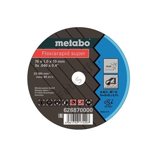 Metabo Flexiarapid super 76x1.0x10mm inox vágókorong (5db)