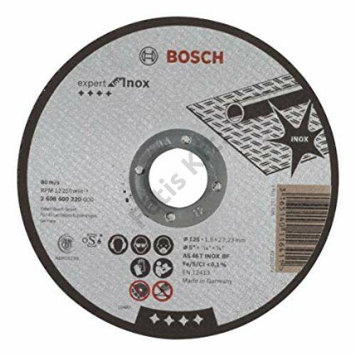 Bosch vágókorong 125x1.6mm Expert for Inox AS 46 T INOX BF