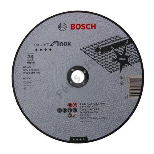 Bosch vágókorong inox 230x1.9 AS 46 T BF egyenes Rapido