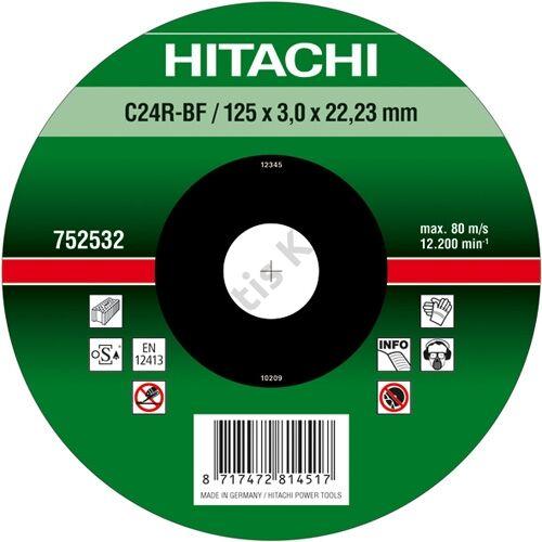 Hitachi-Hikoki vágókorong kőhöz 125x3.0mm domborított
