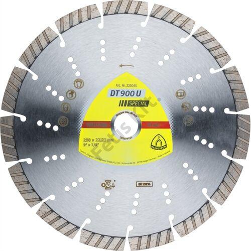 Klingspor gyémánt vágókorong 115x2.4x22.23mm P DT 900 U ST=Turbó szegmens