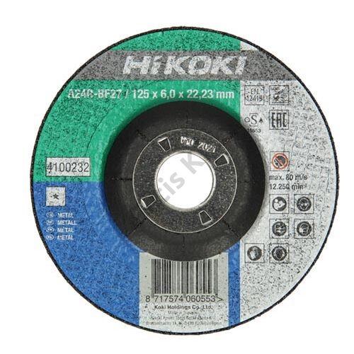 Hitachi-Hikoki csiszolókorong 125x6.0x22.2mm fém