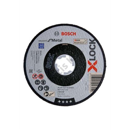 Bosch vágókorong 125x 2.5mm fém egyenes X-Lock