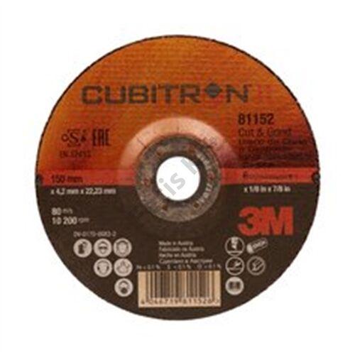 3M 81152 Cubitron II tisztító-, vágókorong T27, 150 mm x 4.2 mm x 22.23 mm