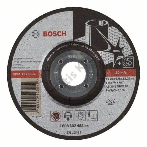 Bosch tisztítókorong 125x6 inox hajlított