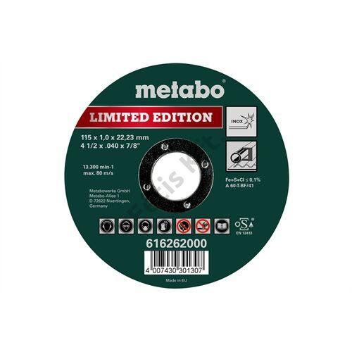 Metabo vágókorong Limited Edition 115 x 1.0 x 22.23 Inox, TF 41