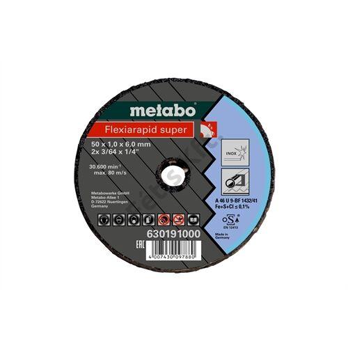 Metabo vágókorong Flexiarapid Super 50x1.0x6.0 Inox
