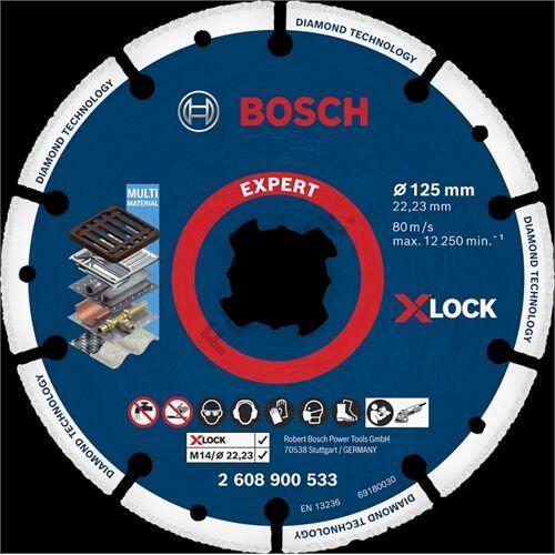 Bosch vágókorong, gyémánt 125 X-Lock fém