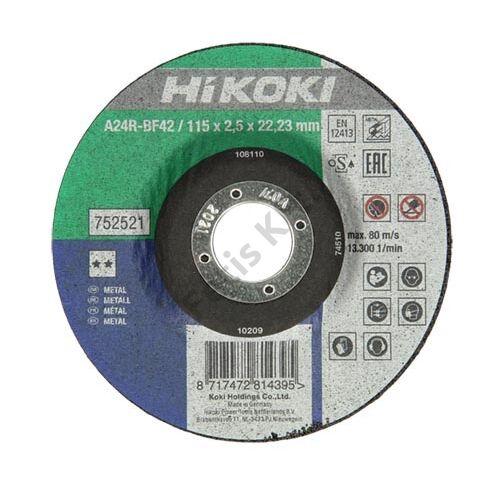 Hitachi-Hikoki vágókorong fém 115x2.5mm domborított