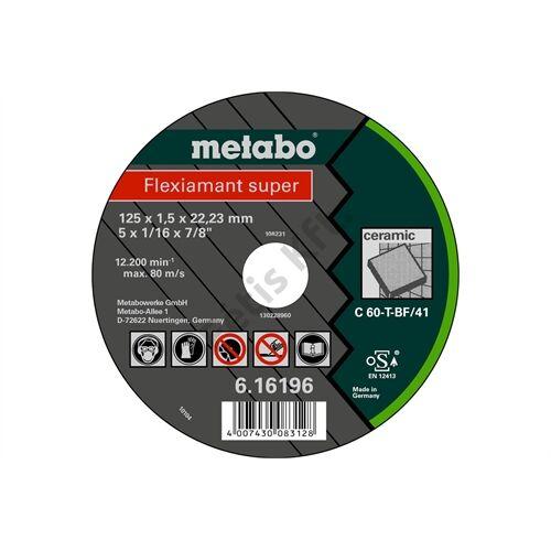 Metabo vágókorong Flexiamant super 125x1.5x22.23 kerámia,TF41