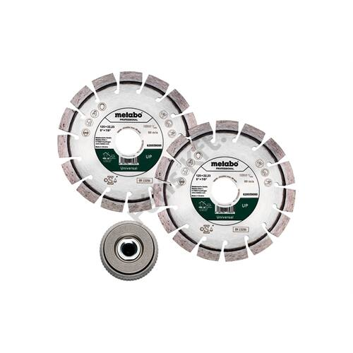 Metabo gyémánt vágókorong készlet 2db 125x22.23mm UP + 1db Quick szorítóanya M14