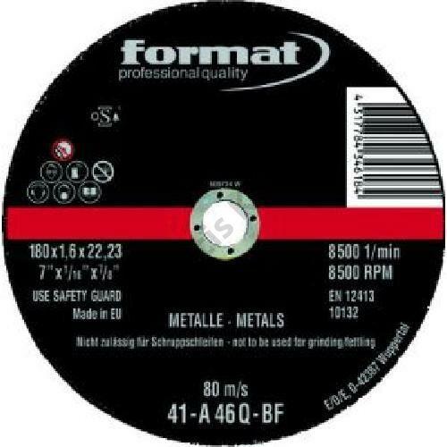 Format vágókorong acélhoz 180x1.6mm rend.egység 25db