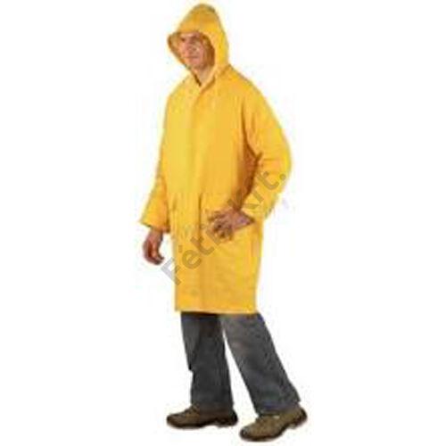 Munkavédelmi 100cm pvc köpeny sárga L  T