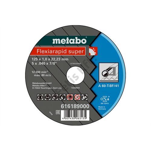 Metabo vágókorong Flexiarapid super 115x1.0x22.23 acél, TF 41