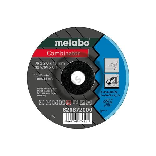 Metabo csiszolókorong Combinator 76x2.0x10 mm Inox, TF 42 3 db