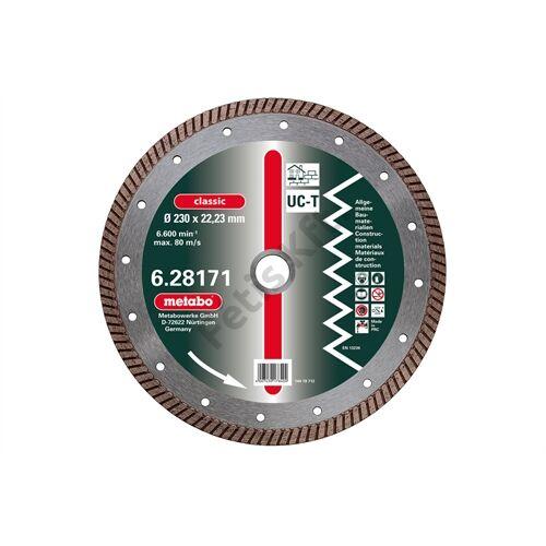 Metabo gyémánt vágókorong 125x2x22.23mm, classic, UC-T, Turbo, univerzális