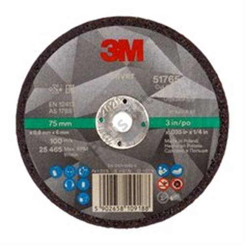 3M Silver vágókorong, T41 egyenes, 75 mm x 0.9 mm x 6 mm