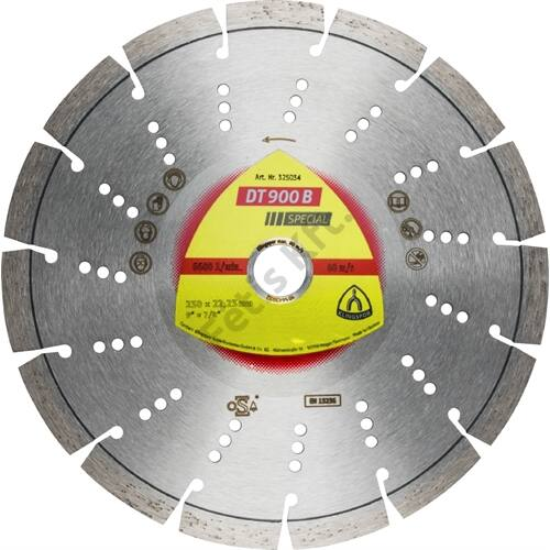 Klingspor gyémánt vágókorong 230x2.6x22.23mm P DT 900 B S=Standard