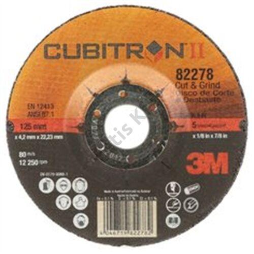 3M 81149 Cubitron II tisztító-, vágókorong T27, 115 mm x 4.2 mm x 22.23 mm