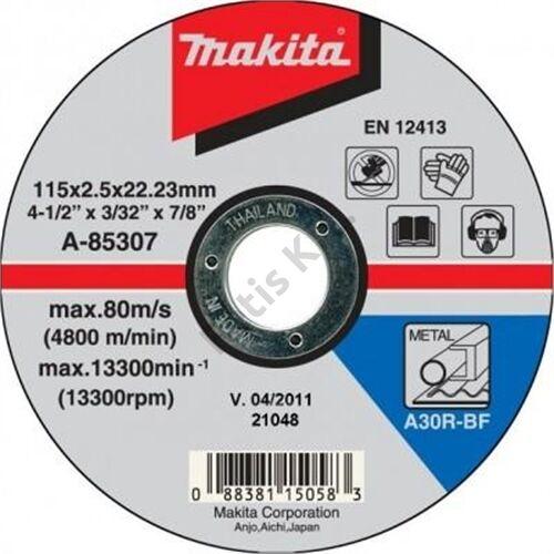 Makita vágókorong acél 115x2.5mm