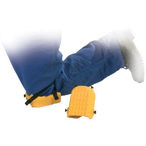 Térdvédő sárga 4 db gumipánttal