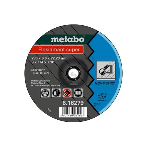 Metabo csiszolókorong Flexiamant super 115x6.0x22.23 acél, SF 27