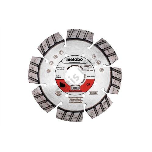 Metabo gyémánt vágókorong 115x22.23mm CP