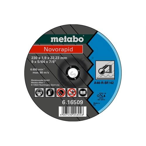 Metabo vágókorong Novorapid 230 x 1.9 x 22.23 mm, acél, TF 42