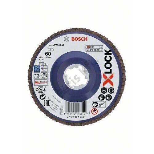Bosch lamellás csiszolótányér 115x22.23 G60 X-Lock