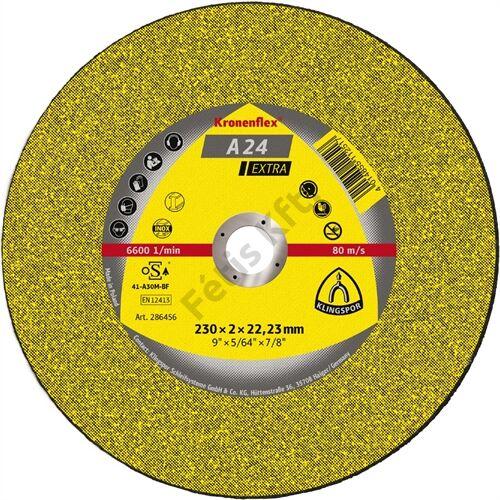 Klingspor vágókorong 230x2x22.23mm A 24 EX S Egyenes
