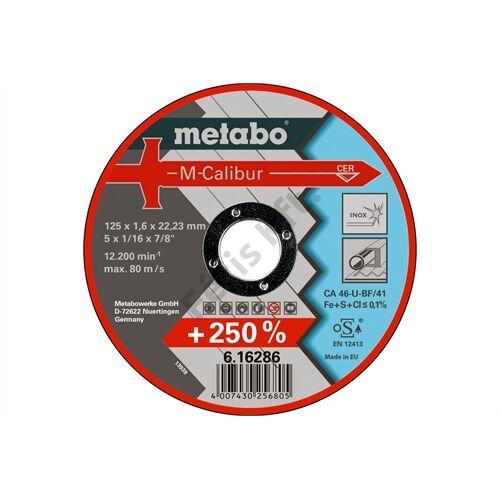 Metabo vágókorong M-Calibur 125 x 1.6 x 22.23 Inox, TF 41