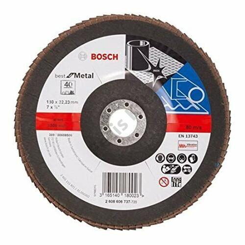 Bosch legyezőtárcsa 125x22.23 mm P60 fémhez Alox X431 egyenes üvegszál