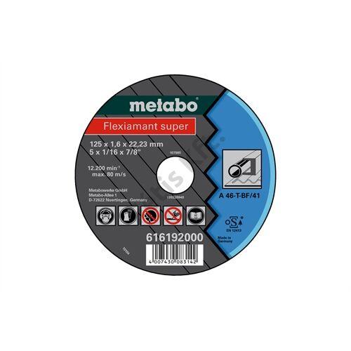 Metabo vágókorong Flexiarapid super 125x1.6x22.23 acél, TF 41