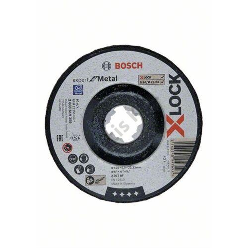 Bosch csiszolókorong 125x6x22.23 fém X-Lock