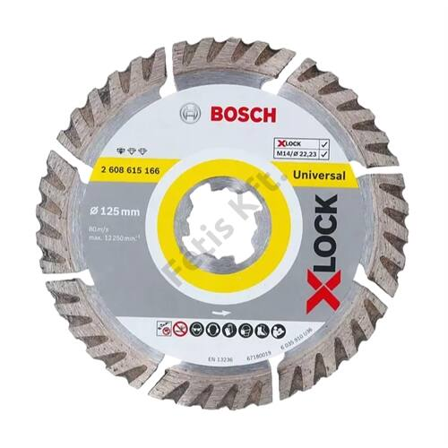 Bosch  gyémánt vágókorong 125x1.6 X-Lock
