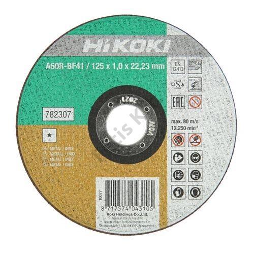 Hitachi-Hikoki vágókorong inox 125x1.0mm