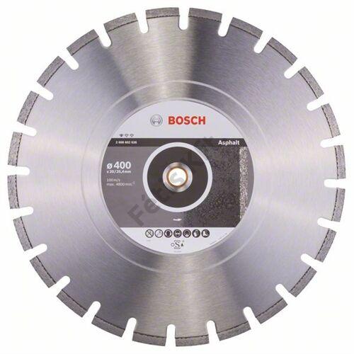 Bosch vágókorong, gyémánt 400x20/25.4 aszfalthoz