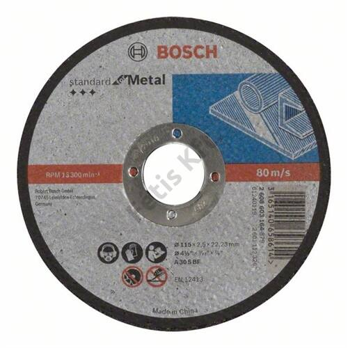 Bosch vágókorong 115x2.5mm fem egyenes
