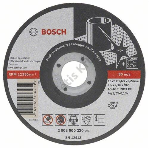 Bosch vágókorong 115x1.0mm INOX egyenes