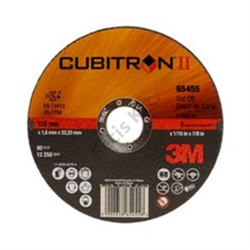 3M Cubitron II vágókorong, T41 egyenes, 125 mm x 2.0 mm x 22.23 mm