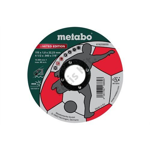 Metabo vágókorong Soccer 115x1.0x22.23mm Inox 500