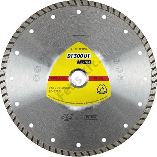 Klingspor gyémánt vágókorong 125x1.9x22.23mm P DT 300 UT GRT=Turbó folyamatos