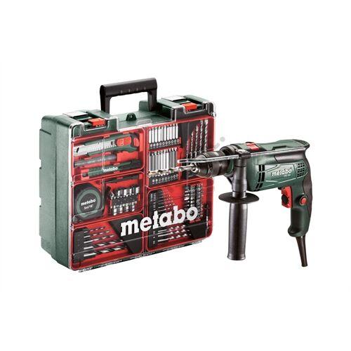 Metabo SBE 650 ütvefúró + mobilműhely tartozék készlet
